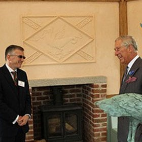 Prince Charles with his new ESSE Stove