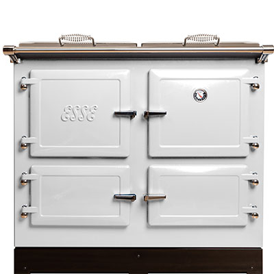 White cast iron range cooker