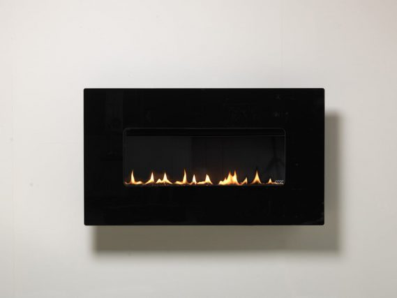 48 landscape gas fire black