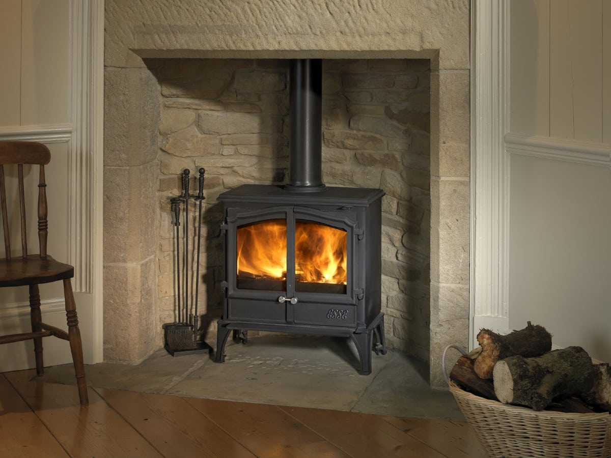 the esse 100 double door a traditional multifuel stove. Black Bedroom Furniture Sets. Home Design Ideas