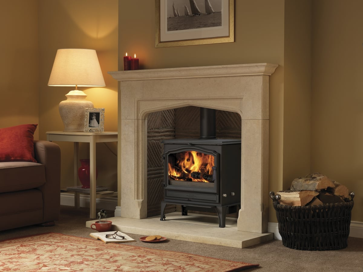The esse 200 wood burning stove can heat any living room for Living room with wood burning stove