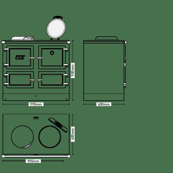 ESSE 990 EL Cooker