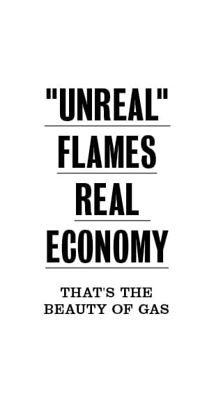 Unreal flames real economy
