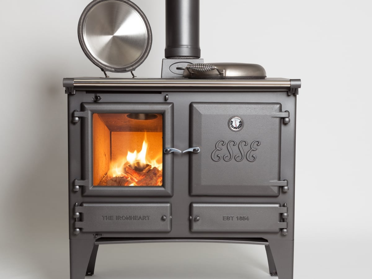 the ironheart multifuel cooker warms the room too. Black Bedroom Furniture Sets. Home Design Ideas