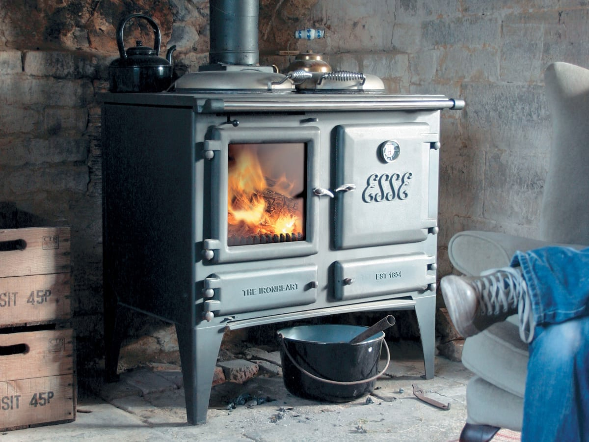 The Ironheart multifuel cooker warms the room too.