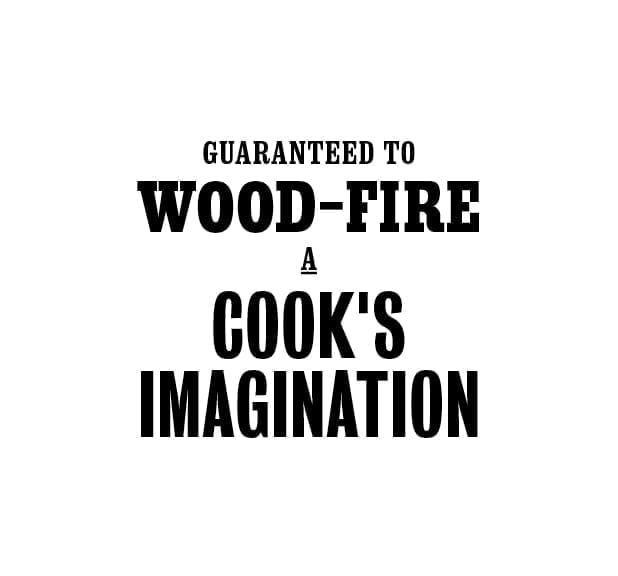 Wood fire and cooks imagination