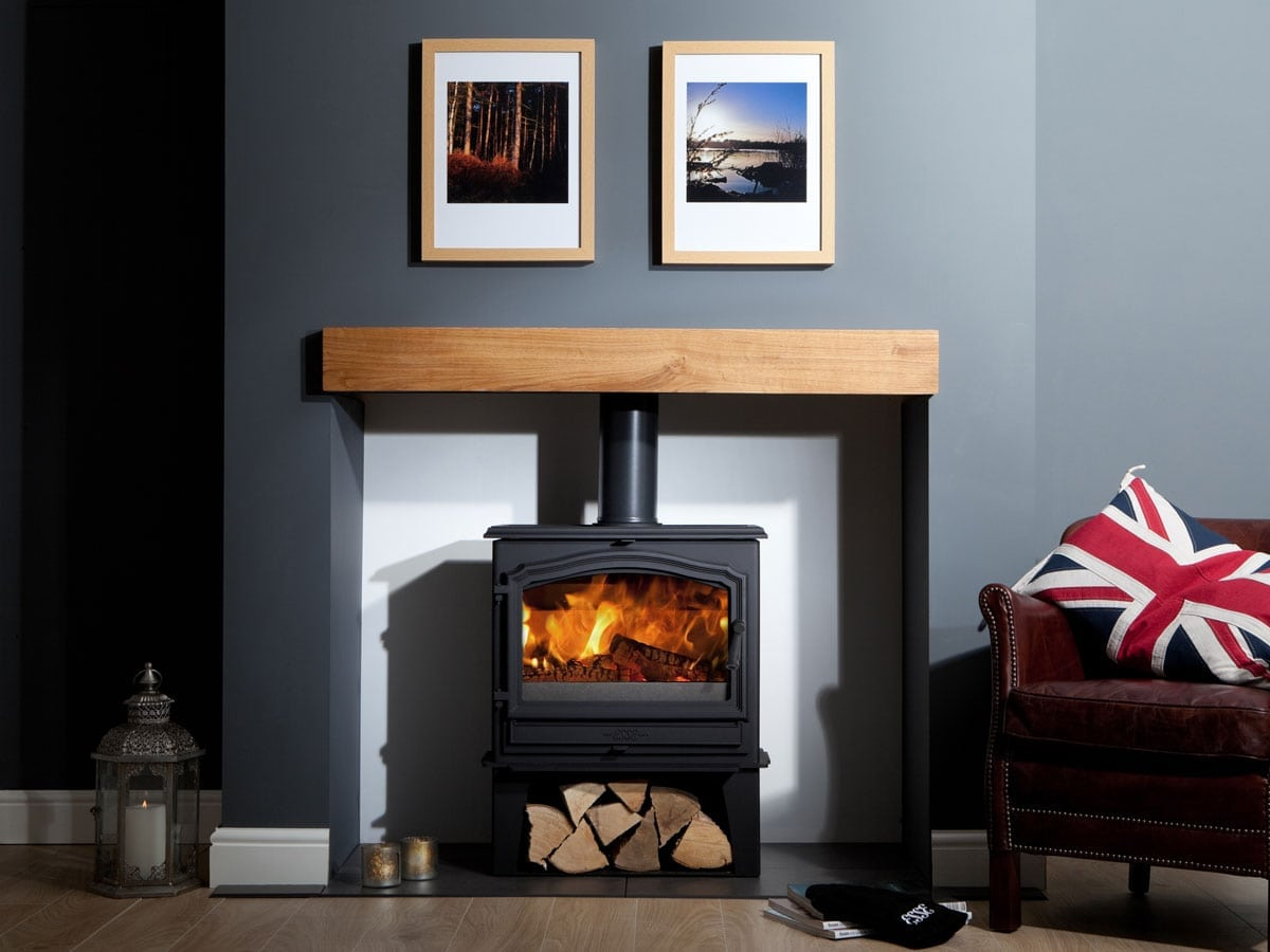 ESSE 100 Stove with a log store