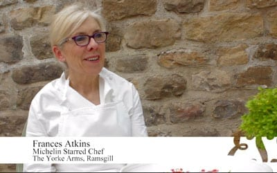 Frances Atkins head chef at The Yorke Arms