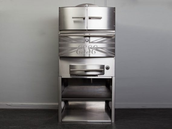 ESSE Chargrill with hot cupboard and shelving
