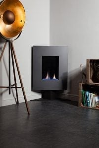 ESSE Iron Grey Steel Corner Model with Stand