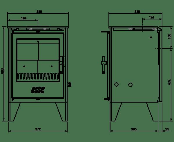 ESSE 550 SE dimensions