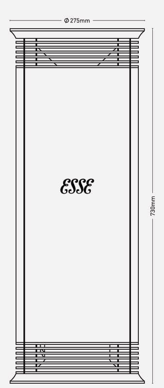ESSE vector line drawing dimensions