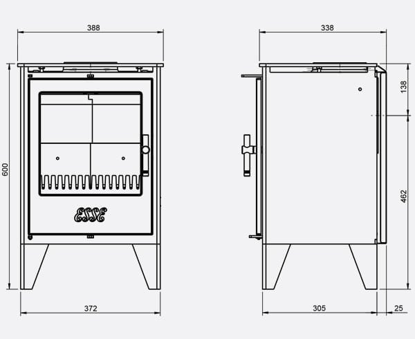 ESSE FG550 dimensions