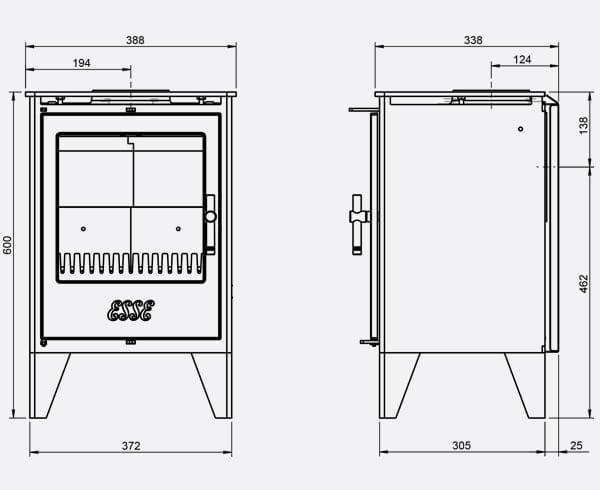 ESSE G550 dimensions