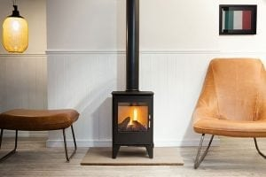 Gas 550 stove in a modern roomset
