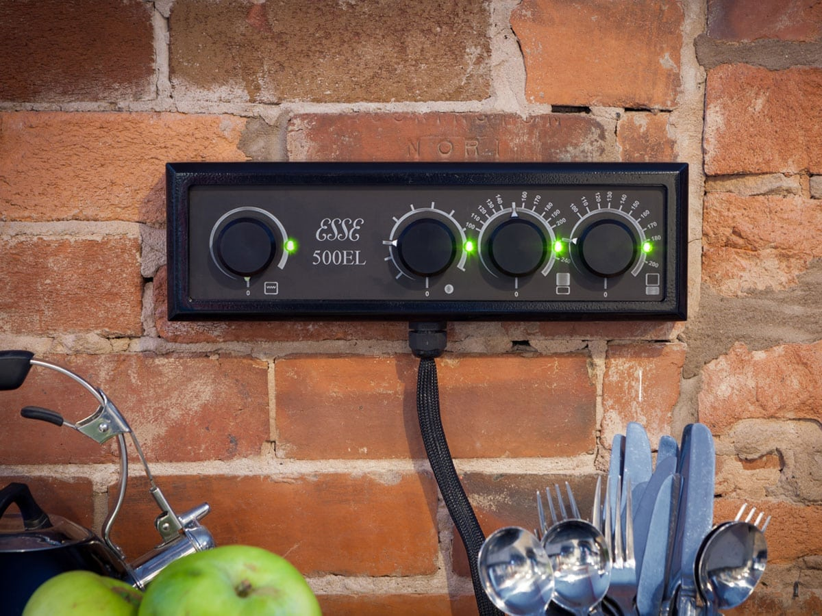 ESSE 500 EL control panel on the wall