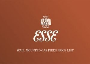 ESSE gas fires price list cover