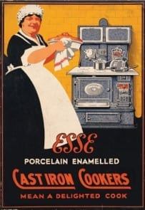 Old ESSE cast iron range cookers advert