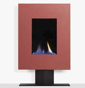 Ruby portrait gas fire on floor stand