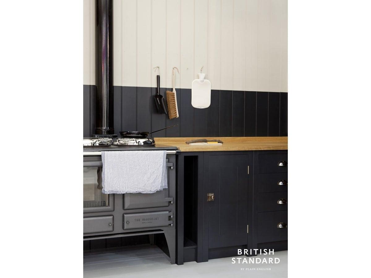 ESSE Ironheart blue kitchen angled