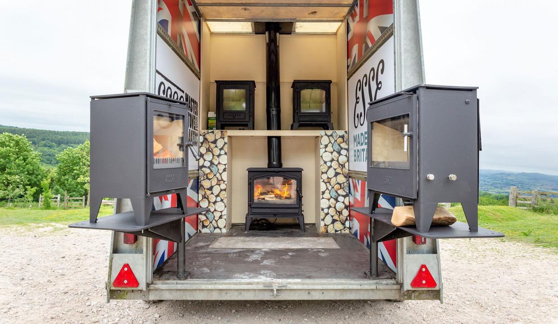 ESSE stove trailer display