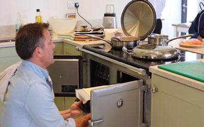 Matt Tebbutt cooking on an ESSE range cooker