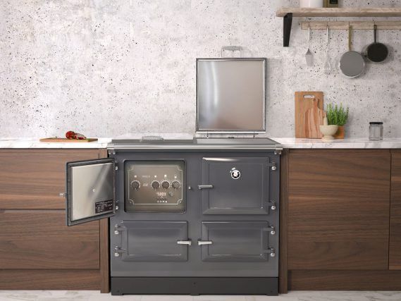 ESSE 990 ELX kitchen right lid and control door open