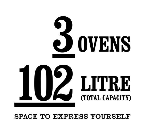 3 Ovens 102 Litres