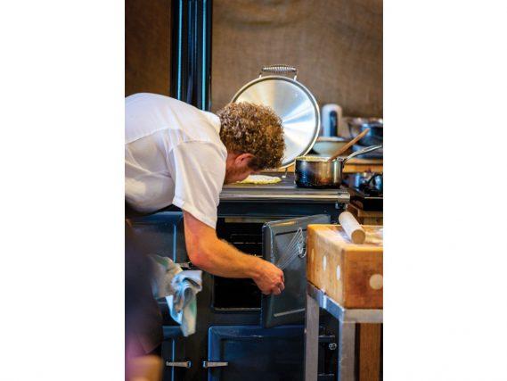 ESSE 990 Hybrid opening top oven door