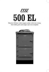 ESSE 500 EL leaflet cover