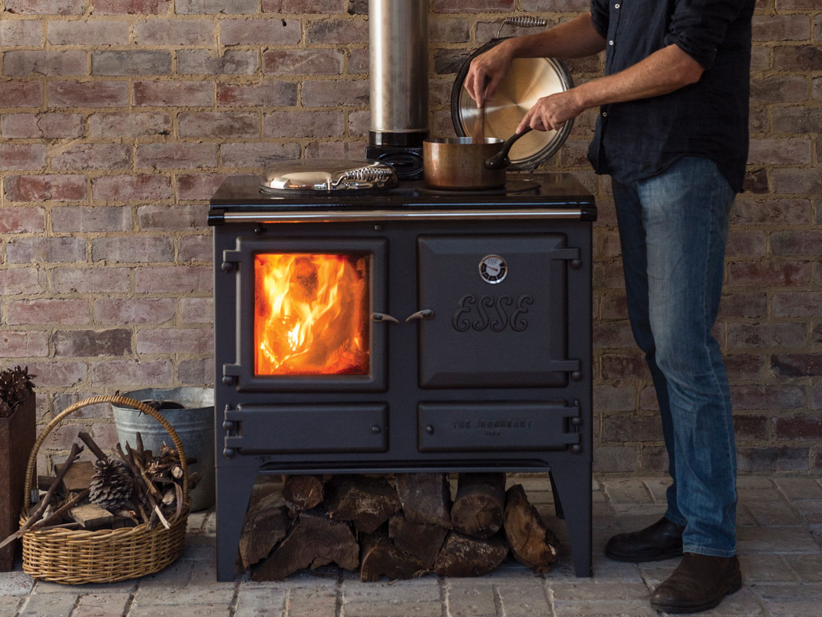 The Ironheart multifuel cooker warms the room too