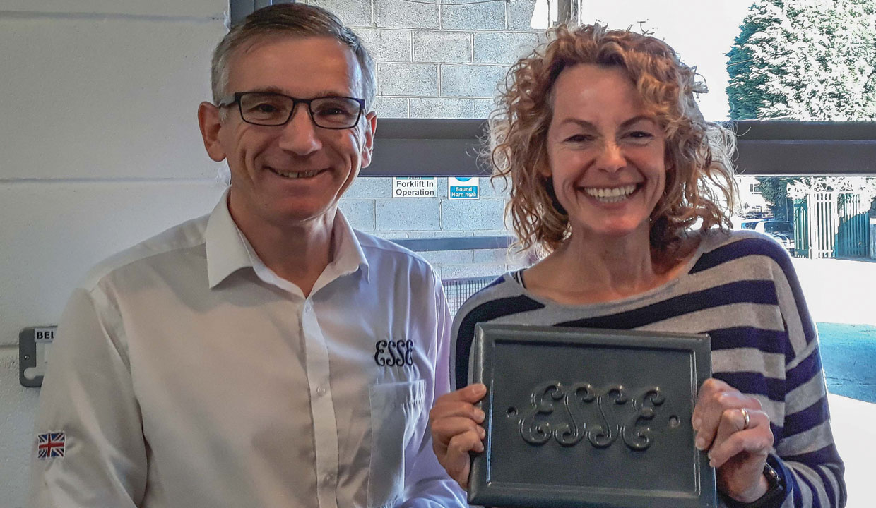 Kate Humble and Mark Blewitt at ESSE