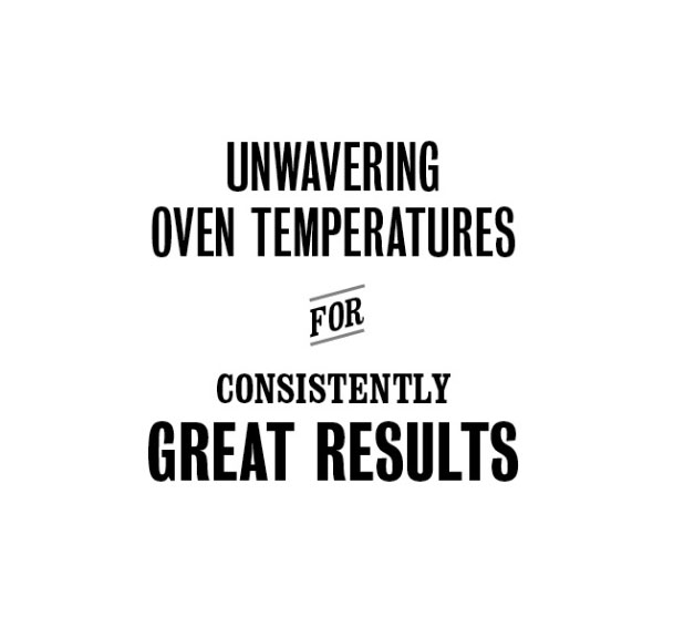 Unwavering oven temperatures for consistently great results