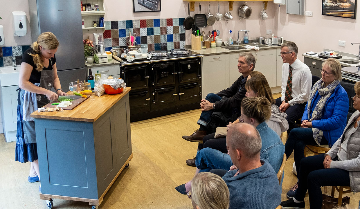 Bluebell Kitchen ESSE cookery demo crowd