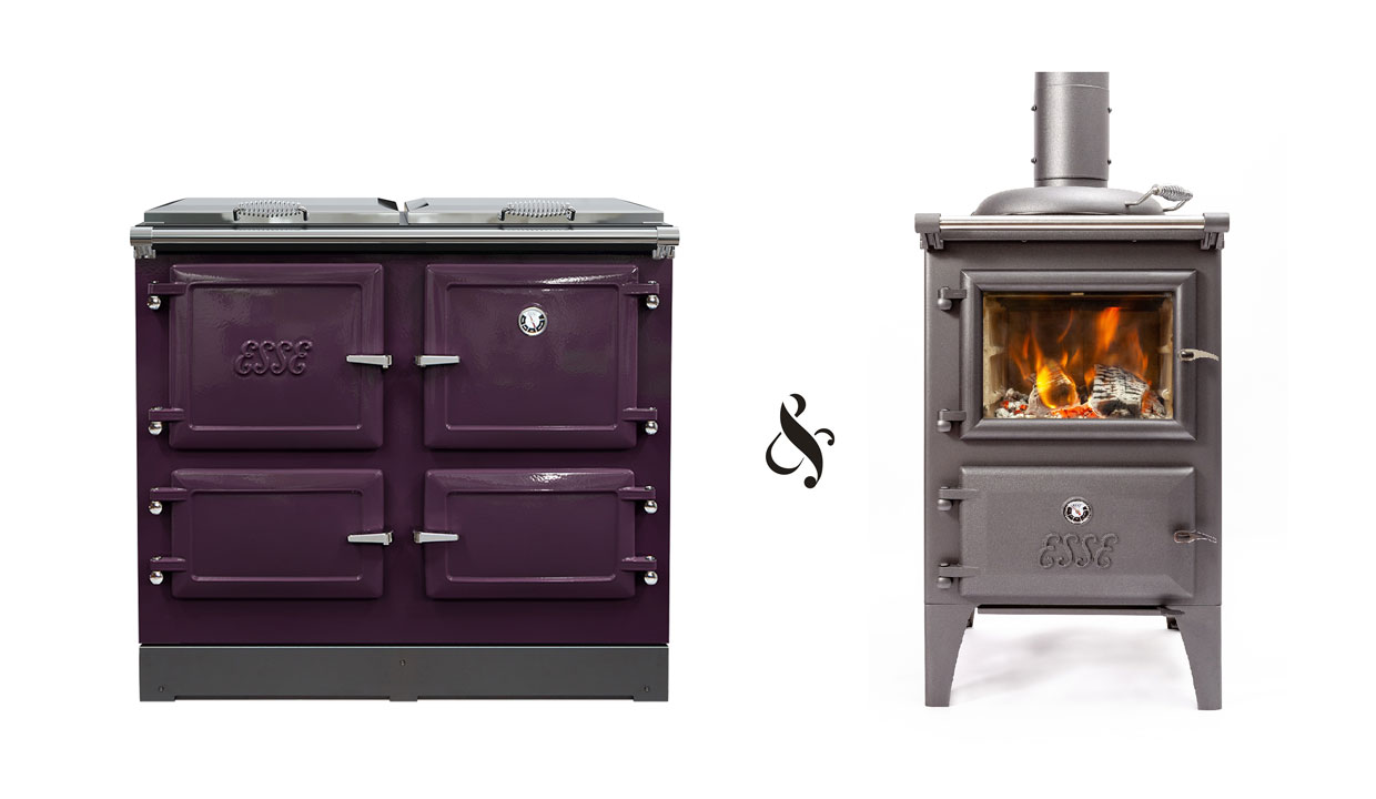 ESSE 990 ELX and Bakeheart cutout range cookers
