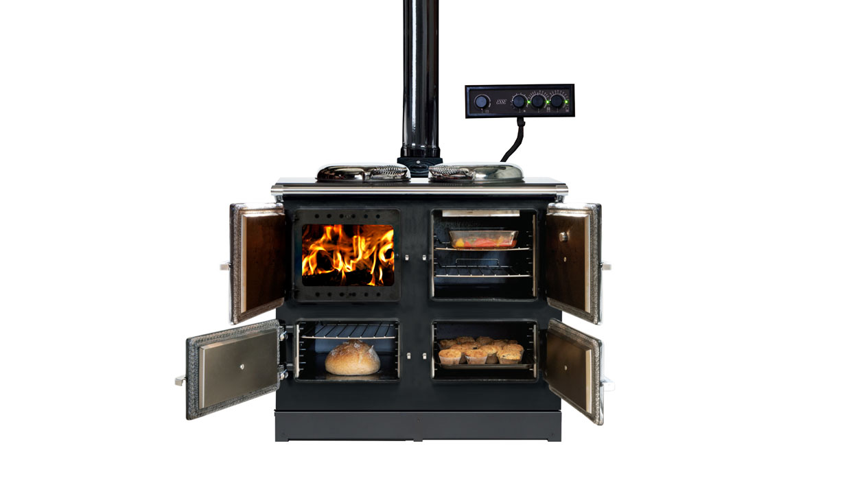 ESSE 990 Hybrid electric and wood range cooker