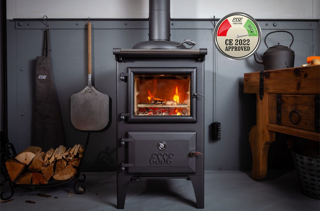 ESSE Bakeheart woodburner with CE2022 approved certification