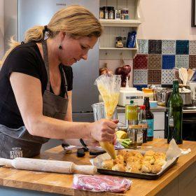 ESSE cookery demo rarebit choux pastry