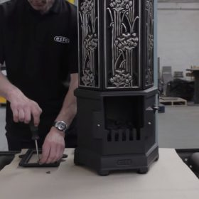 Assembling an ESSE solo electric stove