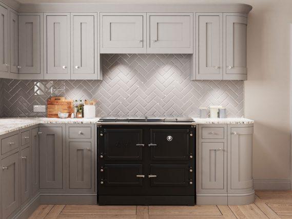 black ESSE 990 ELX in a grey modern kitchen