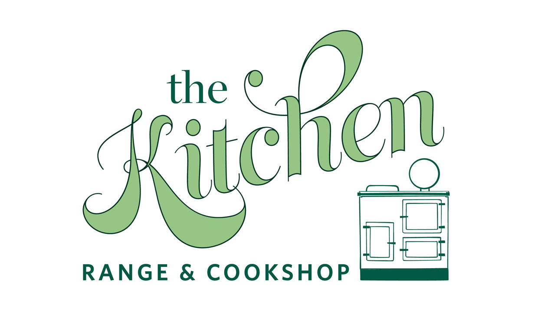 the kitchen range and cookshop logo large