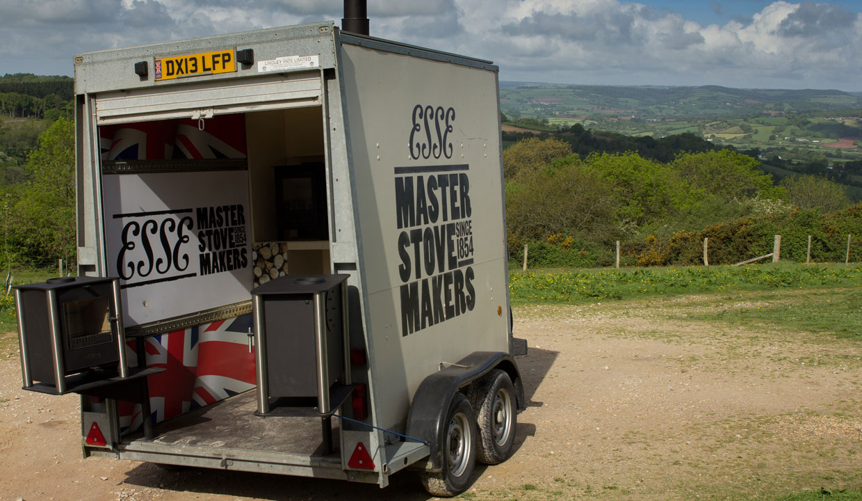 ESSE stove show trailer at River Cottage