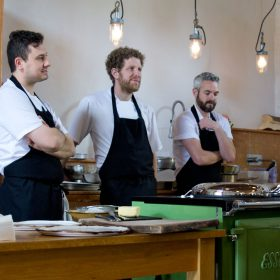 River Cottage chefs with ESSE range cooker