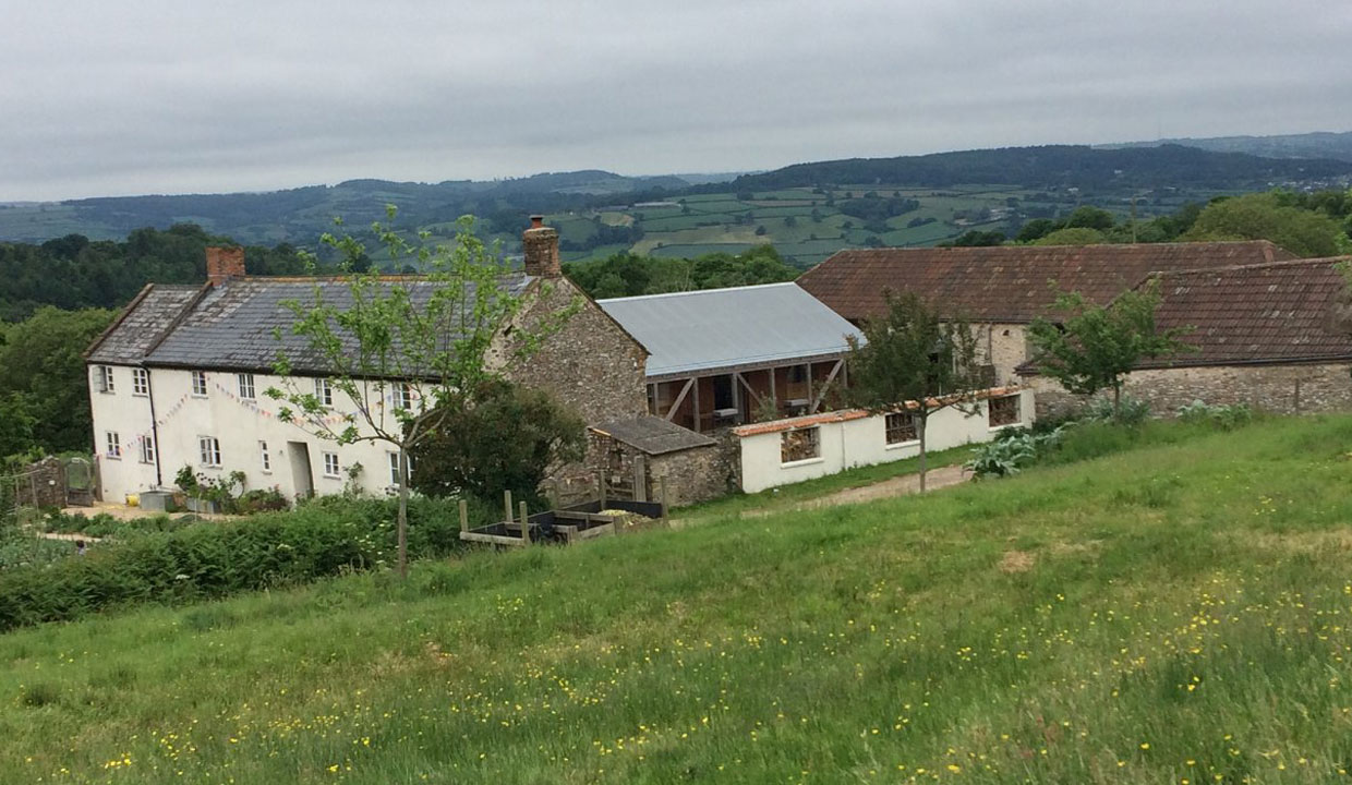 River cottage in the countryside