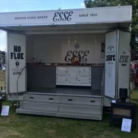 ESSE cooker show trailer with stoves
