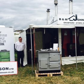ESSE Dan Blewitt at the B and M Johnson show stand