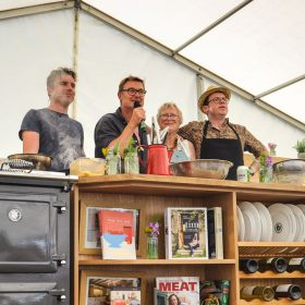 Steve Lamb Tim Maddams Gill Meller Pam the Jam Corbin cookery demo ESSE 990 ELX