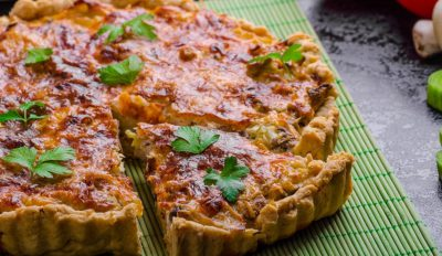 Smoked pollack and spinach tart 1240x720